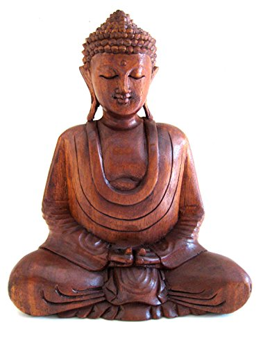 OMA Buddha Statue Wood Carved Meditation Buddha Sculpture Buddha Decor – Large 12 Brand