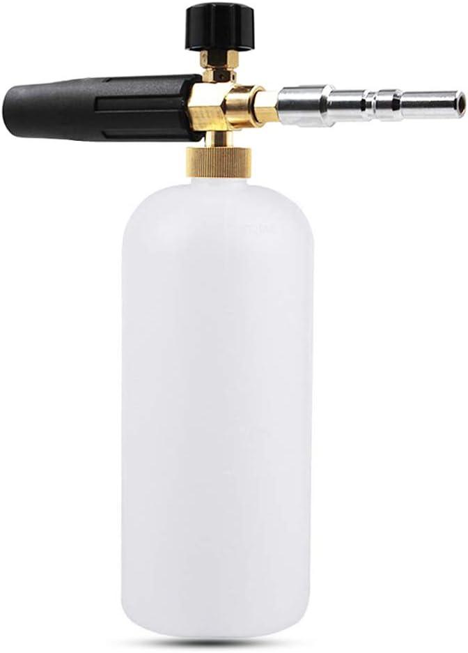 Espuma de jabón para Lavado de Coche con Boquilla de Espuma Ajustable, pulverizador, dispensador de jabón
