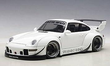 Porsche 993 RWB in White Diecast Model Car in 1:18 Scale by AUTOart