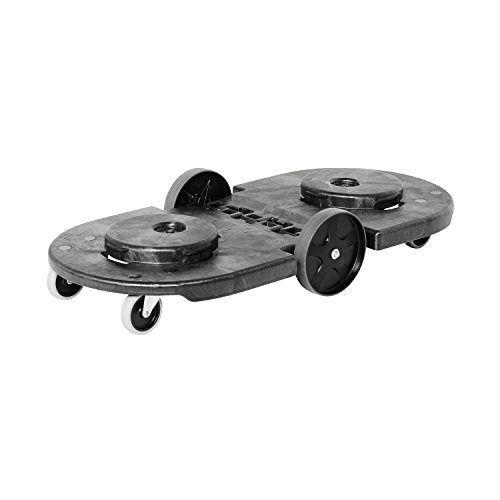 Rubbermaid Plastic Platform Truck - Rubbermaid Commercial FG264600BLA Tandem Brute Trash Dolly