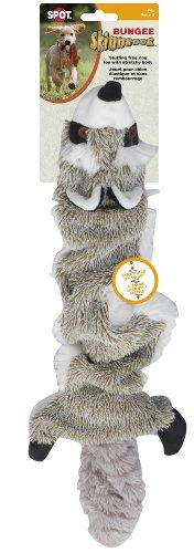 Ethical Pet Plush Skinneeez Bungee Raccoon Stuffingless Dog Toy