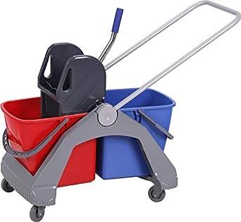 Chiner - Carro de limpieza con doble cubo de 30 litros y ...