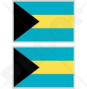 """Bahamas bandera de la Commonwealth de las Bahamas 4""""(100mm) Bumper de vinilo pegatinas, calcomanías x2"""