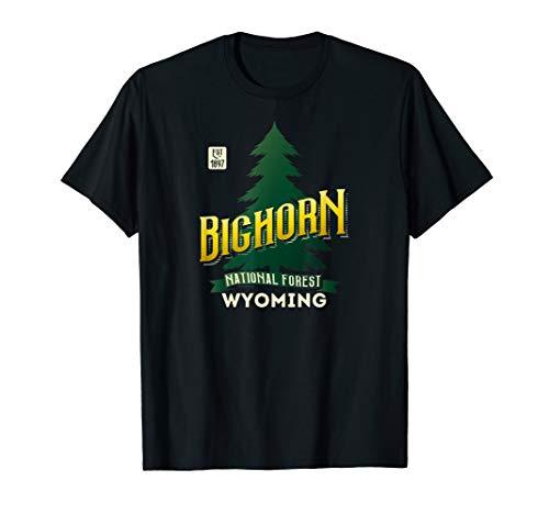 Bighorn Wyoming - Bighorn National Forest Wyoming Big Horn Retro Logo Shirt