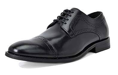 Bruno Marc Men's Waltz-1 Black Genuine Leather Lined Dress Oxfords Shoes Size 6.5 M US
