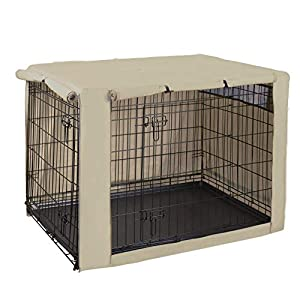 HiCaptain Double Door Dog Crate Cover(Fits 24 30 36 42 48 inches Wire Crate) 8