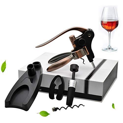 GYFHMY Zinc Alloy Rabbit Wine Bottle Opener Retro Corkscrew Kit Best Accessories All in One Manual Cork Screw Key Set Aerator Bar Waiter by GYFHMY (Image #3)