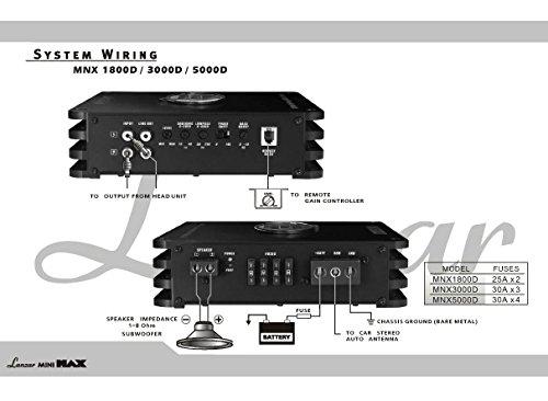 amazon com lanzar mini max 1600 watt 4 channel amplifier mini amazon com lanzar mini max 1600 watt 4 channel amplifier mini mosfet amp car electronics