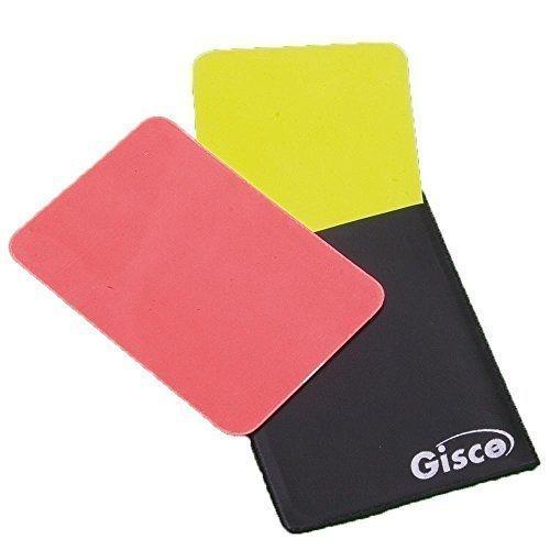 Nuevo Gisce árbitro tarjetas y mano bolsa funcionarios accesorios fútbol OSG