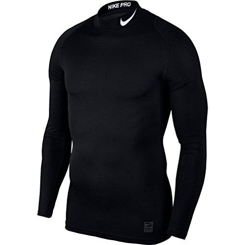 NIKE Pro Men's Long-Sleeved Training Top (Medium, Black)