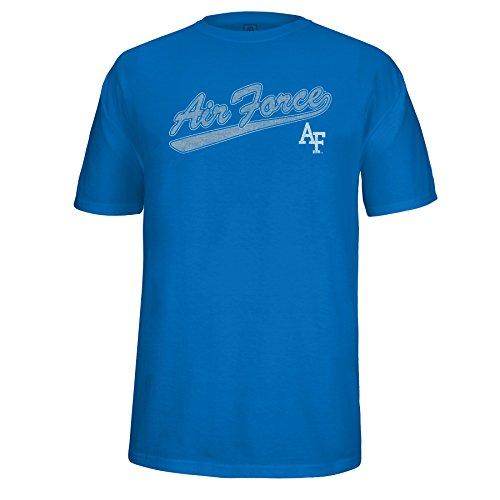 - NCAA Air Force Falcons Men's School Name Script Tail Logo Choice Tee, Royal, Large