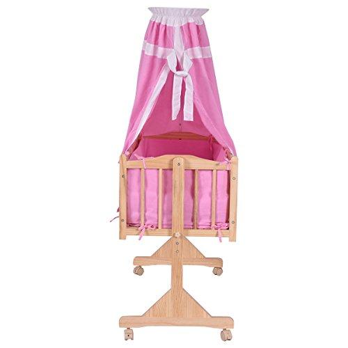Costzon Wood Baby Cradle Rocking Crib Bassinet Bed Sleeper