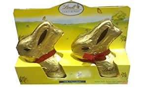 Lindt Easter Chocolate Bunny Rabbit- Large Bunnies 7oz. (2-pack)