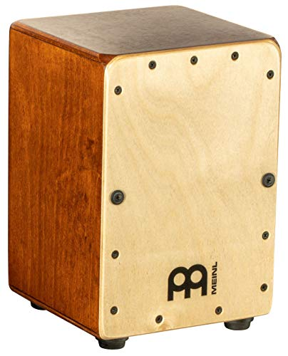 Meinl Mini Cajon Box Drum with Internal Snares – MADE IN EUROPE – Baltic Birch Frontplate / Almond Birch Body, Miniature Size,  2-YEAR WARRANTY (MC1AB-B)