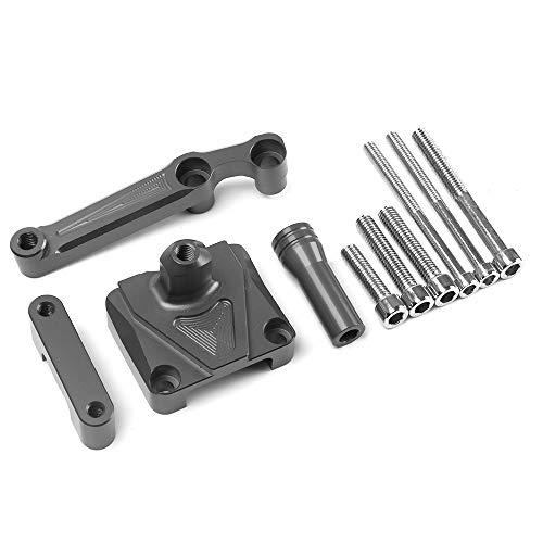 Axle Dampers Suitable for Kawasaki NINJA250 Motorcycle Direction Damper Rod Damping Bracket CNC Aluminum Alloy Ruler,Titanium ()