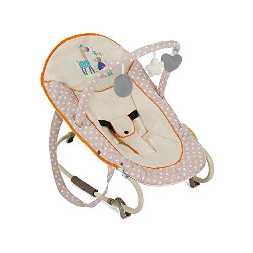 Hauck Bungee Deluxe Animals - Hamaca con movimientos para bebes de 0 meses hasta 9 kg, función mecedora, respaldo ajustable, con arco de juegos, sistema de arnés de 3 puntos, multicolor H-63502