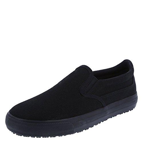safeTstep Women's Black Canvas Slip Resistant Jen Slip-On 10 Regular