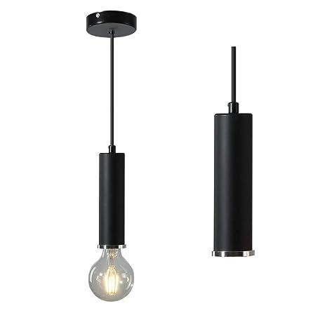 Amazon.com: Lámpara de techo de aluminio moderna, casquillo ...