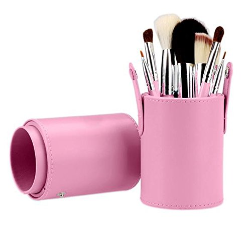 Goodfans Fashion Women 7pcs Makeup Cosmetic Tools Powder Foundation Blush Brush Brushes Set in Barrel(US STOCK) Barrel Synthetic Stock
