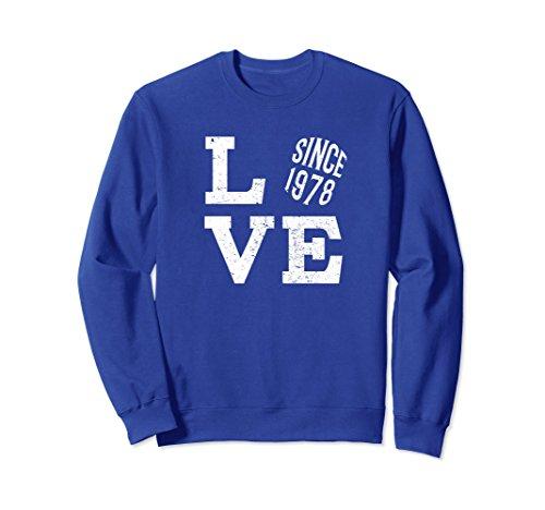 Unisex 40th Wedding Anniversary Sweatshirt For Married In 1978 2XL Royal Blue