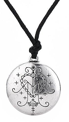 Vintage Amulet Ezili Freda Voodoo Veve Pendant Vodoun Lwa of Love Talisman Jewelry for Men Women - Talisman Love Pendant