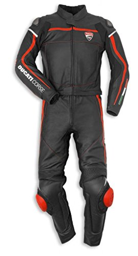 Ducati 981029750 Corse C2 Two Piece Leather Race Suit - Size 50 ()