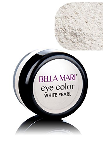 Bella Mari Natural Mineral Eyeshadow, White (Pearl); 0.1oz ()