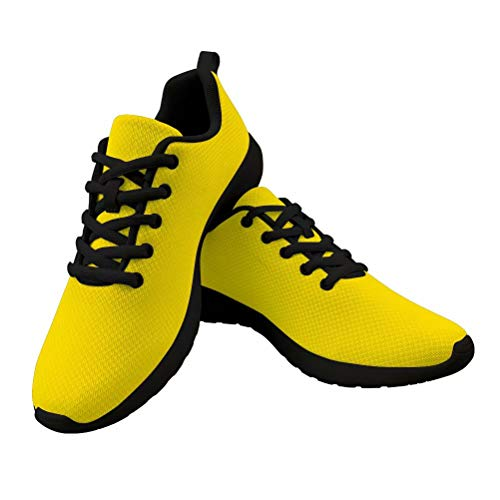 PinUp Angel Yellow Athletic Walking Shoes Casual Comfortable Breathable Travel Work Sneakers