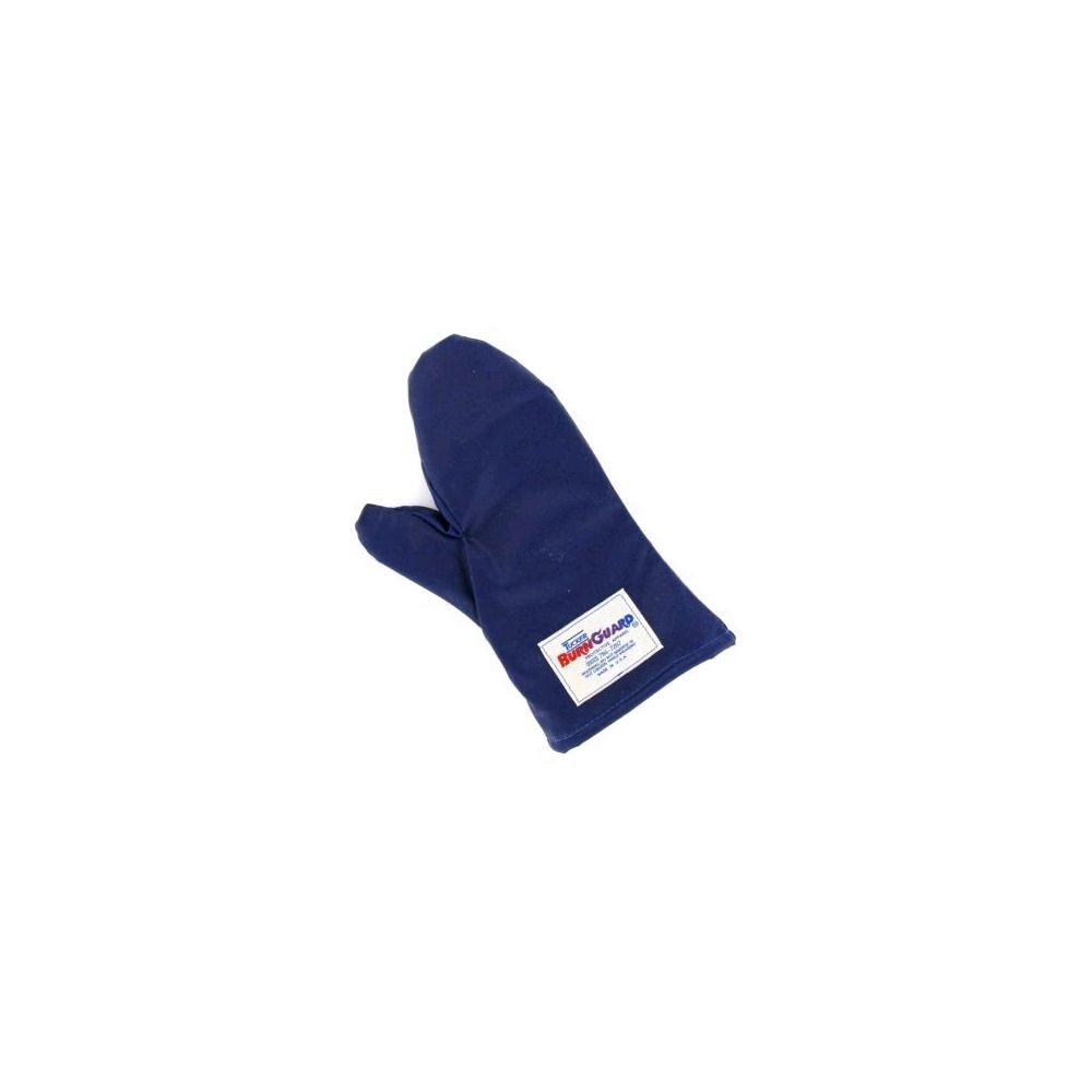 Tucker Safety 56152 Products 55152 Tucker QuicKlean Protective Apparel, Conventional Style Oven Mitt, Poly-Cotton Each, Medium, 15'', Blue
