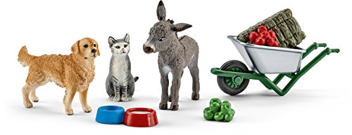 Schleich North America Feeding on The Farm Playset