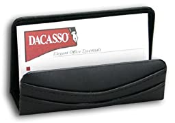 Dacasso Black Leather Business Card Holder