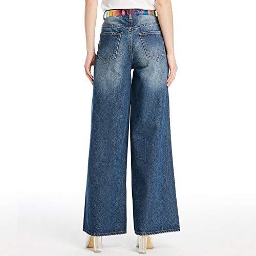 A Pantaloni Donna Larga Gamba Donna Larga Jeans Xl L Bianchi Mvguihzpo Deep Da Jeans Blue Nuovi wHqaIxwT8