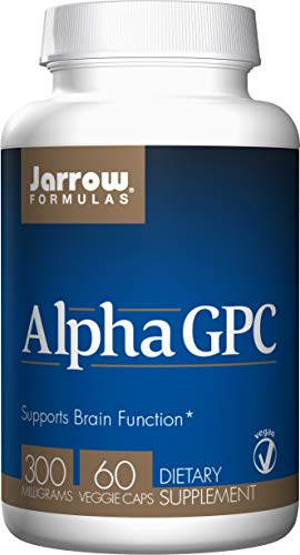 Jarrow Formulas Alpha GPC, Supports Brain Function, 300mg, 60 Veggie Caps