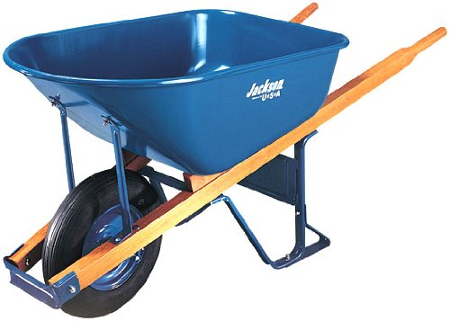 Jackson M6T22 6 Cubic foot Steel Tray Contractor Wheelbarrow With Front Braces by Jackson