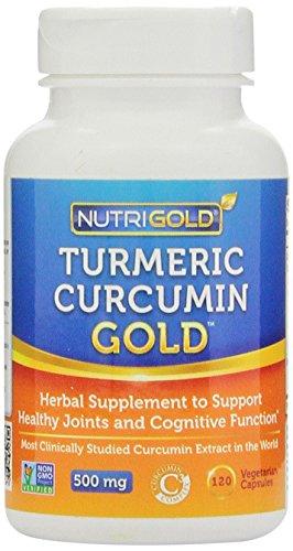 Nutrigold curcuma curcumine Gold (Caractéristiques complexe C3 w / BioPerine), 500 mg, 120 légumes. capsules