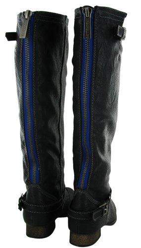 Breckelles Womens Outlaw-81 Knee High Boot Premium Black+ 5aJMl7J