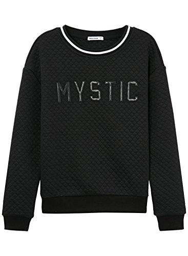 meters-bonwe-womens-casual-letter-printed-quilted-pullover-sweatshirt-black-m