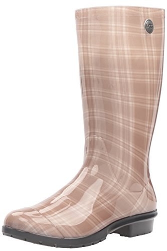 Ugg Womens Leopard Rain Boot Cream