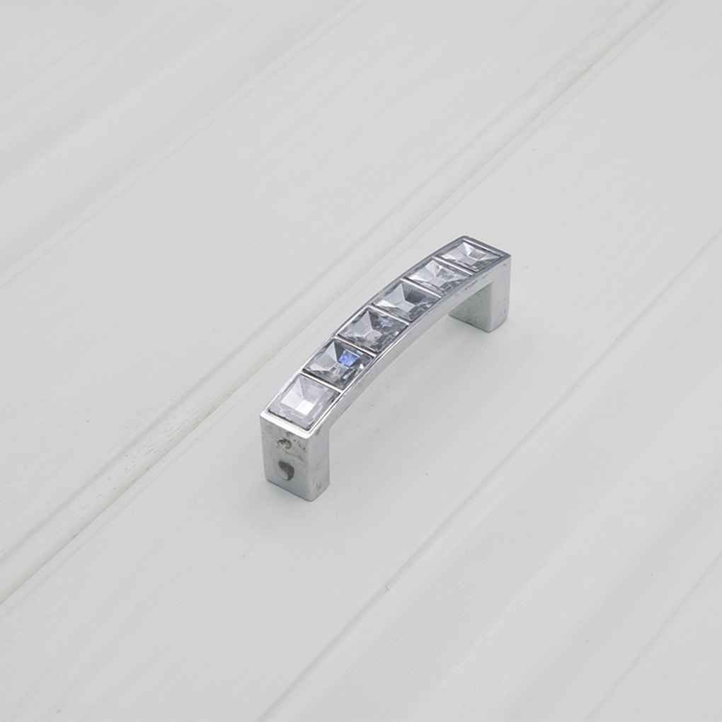 Zinc Alloy Crystal U Shape Cabinet Cupboard Long Handle Wardrobe Drawer Closet Door Pull Knob with Screw Regard Regard Natral