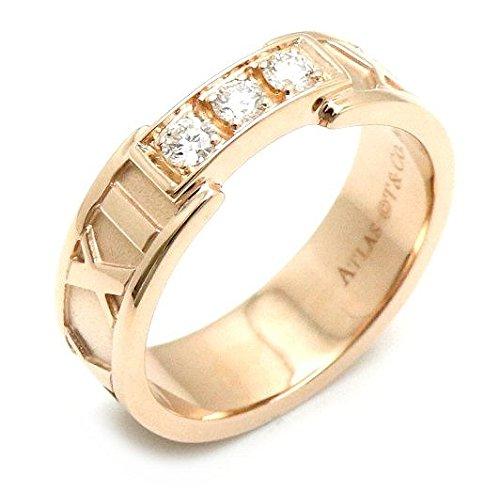 [ティファニー] TIFFANY&Co. アトラス オープンリング アトラスリング 指輪 K18PG 750PG ピンクゴールド ダイヤモンド 3Pダイヤ 8号 #8 B07DZ47M1V
