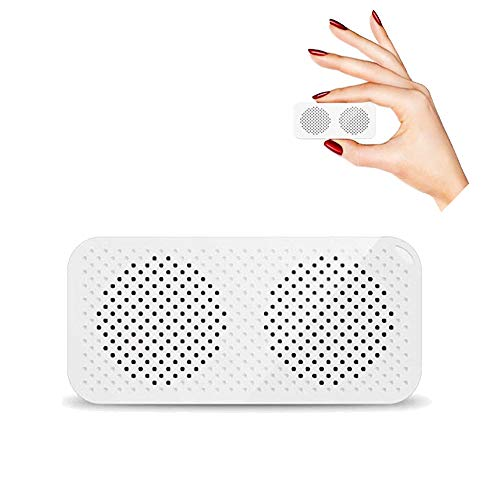 Portable Mini Bluetooth Speaker-JohnBee Tiny Wireless (TWS)Bluetooth Speaker with Custom Bass Radiator ,Shutter Button Selfie Features,Large volume Perfect for Room, outdoor,Garden Party,Travel(White)
