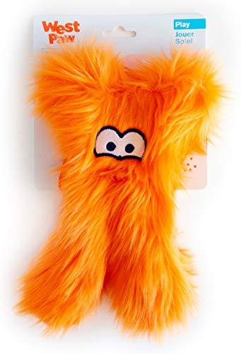 West Paw Darby, Rowdies with HardyTex and Zogoflex, Plush Dog Toy, Orange Fur