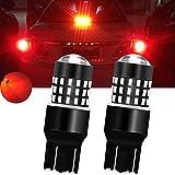TUINCYN 650 Lumens 7443 Led Bulb Red 6000K 7440/T20/7444NA 3014 54SMD Super Bright RV Car Brake Light, Turn Signals Light Bulb, Tail Light, Back Up Light DC 12V-24V 3.1W(2-pack)