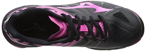 Woms Women's Black Pink Z Pk Bk Lightning Wave Shoe Mizuno Volleyball x6qwapUq