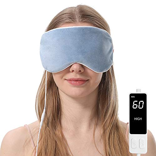 Heated Eye Mask, Steam Treatment for Dry Eyes, Warm Compress Moist Heat for Blepharitis, Dark Circle, Chalazion, Puffy Eyes, Stye Treatment