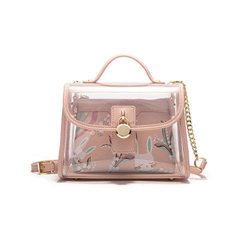 Shoulder Handbag Version PVC Chain Korean Ms Ms JIUTE Messenger Shoulder Transparent Bag Crossbody xwqZIIRY