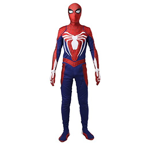 [CosplayDiy Men's Outfit for PS4 Spiderman Video Game Cosplay Jumpsuit S] (Make Your Own Superhero Costume)