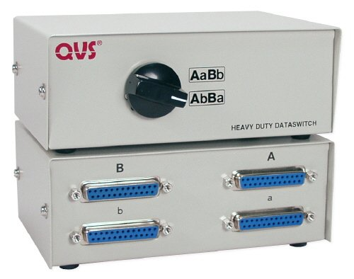 QVS Two PC Share Two DB25 Printer Manual Switch ()