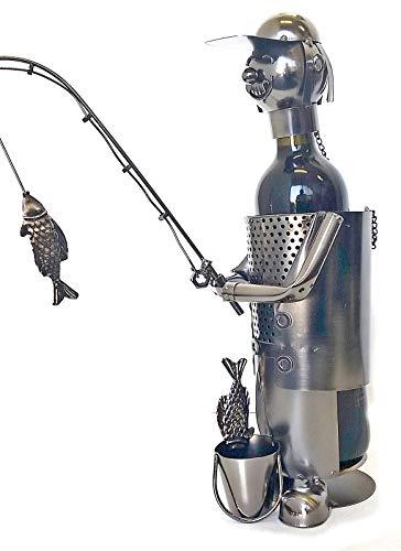 Bellaa 21589 Fisherman Wine Bottle Holder Handmade