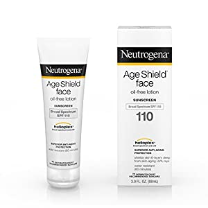 Neutrogena Age Shield Face Lotion Sunscreen with Broad Spectrum SPF 110, Oil-Free & Non-Comedogenic Moisturizing…